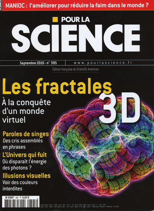 Featured on pour la science magazine's front cover of september 2010